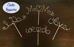 Personalized Wire Hangers, Cake Topper & Table Numbers - WEDDING Cambridge Kitchener Area image 3