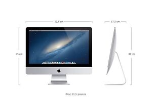 iMac 21 FULLY LOADED late 2012 en PARTAITE condition