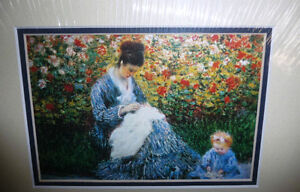 "Claude Monet ""Camille Monet and a Child in the Artist's Garden Stratford Kitchener Area image 3"