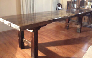 One of a Kind Handmade Dining Tablea!