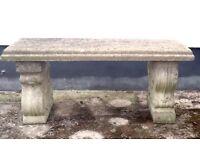 Garden Bench Cast Stone/concrete.