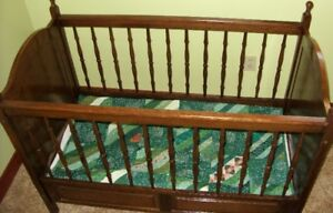 Antique Refinished Baby Bed