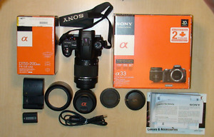 $ 400 or B.O. - Sony DLSR SLT A33 Camera Bundle