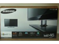 """box 46"""" Samsung LED smart WiFi full HD freeview built in"""