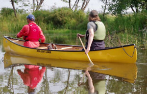 Canoes for sale,   modern touring (sit-switch) and traditional.