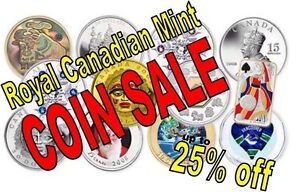 COIN SALE Royal Canadian Mint up to 25% off