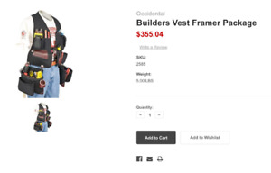 Occidental Tool Vests For Sale