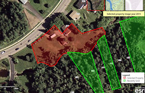 Over-sized lot babbling brook/mature trees.Lot 564 Chartersville