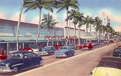 circa 1950 LINCOLN RD. SHOPPING CENTER, MIAMI BEACH, (Lincoln Center Miami)