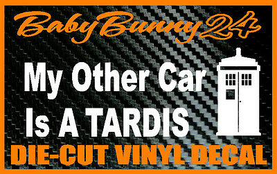 My Other Car Is A Tardis Dr.Who Laptop Aufkleber Vinyl Aufkleber ()