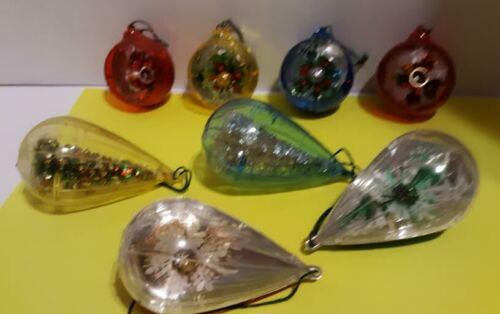Vintage Plastic Christmas Ornaments Lot