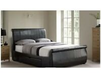 King Size Manhattan upholstered bed and Mattress