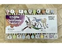 HUGE! BRAND NEW CHARLIE & THE CHOCOLATE FACTORY PENCILS & ERASERS SET - ROALD DAHL