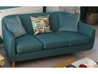 Teal 3 seater Sofa by MADE