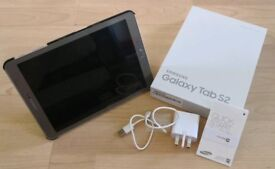 "Samsung galaxy tab s2 9.7"" 32gb gold tablet with case and screen protector"
