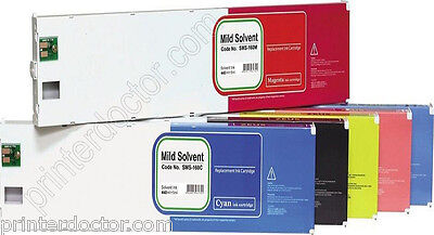 440ml Mild Solvent Ink Cartridge Set 6 Pcs For Roland Eco-sol Max Sj-500600