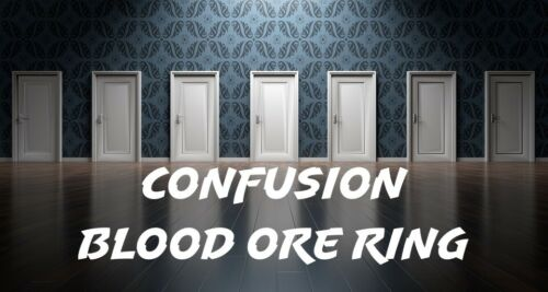 Confusion Confuse Your Enemies Blood Ore Ring Curse Punish Make Them Lose