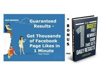 Guaranteed Results: Get Thousands of Facebook Page Likes in 1 Minute