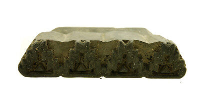 Antique Bunta Stamped Wood Printing Fabric Textile Batik Rajasthan India X24