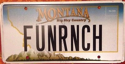 Montana vanity FUN RANCH license plate Horse Cow Cowboy Farm Cowgirl Agriculture