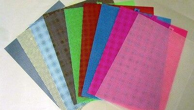 4 Sheets of 7 Mesh Plastic Canvas - Choice of Colors 7 Mesh Plastic Canvas