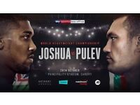 Joshua Vs Pulev FLOOR TICKETS x2