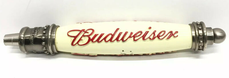 VINTAGE BUDWEISER THE GREAT AMERICAN LAGER BEER TAP HANDLE