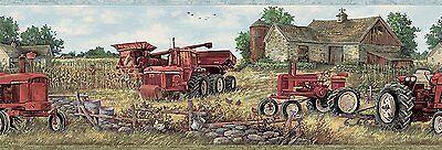 Oakley Red Countryside Tractor Easy Walls Wallpaper Border (Oakley Wallpaper)