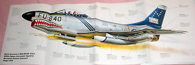 HUGE! NORTH AMERICAN F-86D SABRE POSTER picture print usaf jet fighter saber dog for sale  Canada