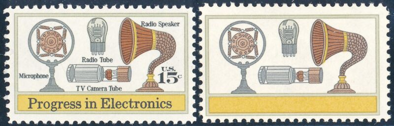 "#1502a ""electronics"" Black (inscriptions & Us 15¢) Omitted Major Error Wl2491"