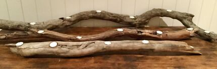 Driftwood Candle Holders x 2
