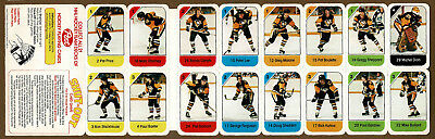 Pitts Penguins (1982-83 Post Canada Redemption Team Panel, Pitts. Penguins, Rick Kehoe, Carlyle)