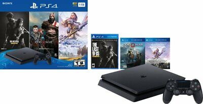 New Sony PlayStation 4 1TB Only on Playstation Console Bundle w/ 3 Games - Black