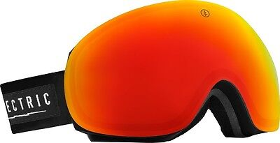 NEW Electric EG3 Black Red Mirror mens snowboard goggles +free lens Msrp$220