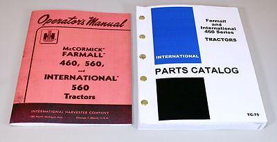 Set International Farmall 460 Tractor Owner Operator Parts Manuals Catalog Book