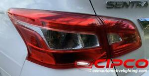 2016 Nissan Sentra Tail Light, Tail Lamp Right = Passenger Side Inner / Used | Clean & Undamaged