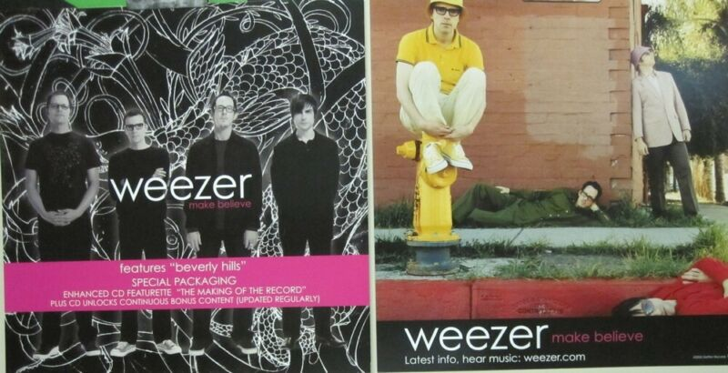Weezer 2005 Make Believe 2 Sided promo poster/flat Flawless New Old Stock