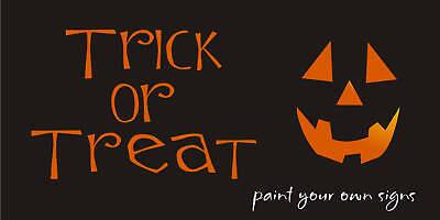 Stencil Trick Treat Pumpkin Jack Face Halloween Primitive Craft Signs U Paint - Pumpkin Stencil