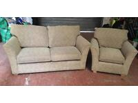 2 Seater Sofa Bed & Armchair