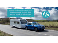 Caravan storage at Aldeby Business Park