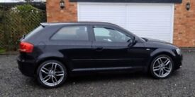 Audi A3 1.8T 2009 BLACK Absolutely Stunning Car 3dr SLINE
