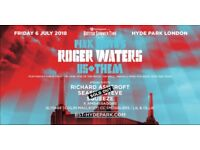 Roger Waters in Hyde Park 6 July - 2 tickets