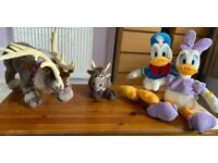 Genuine authentic Disney cuddly toys - Daisy Duck, Donald Duck, baby Sven & adult Sven