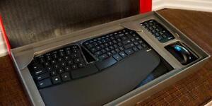 Microsoft - Sculpt Ergonomic Desktop Wireless USB Keyboard and Mouse - Black