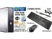 *BARAGIN* New Dell OptiPlex 745/755 Windows 7 Desktop PC Computers + Brand New Dell Keyboards & Mice
