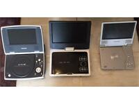 3 DVD PLAYERS UNTESTED