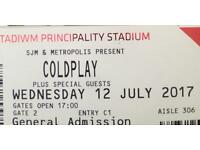 Coldplay ticket x2