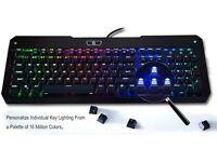 Gaming Keyboard, UtechSmart Mercury Full Color RGB Backlit Illuminated Mechanical Gaming Keyboard