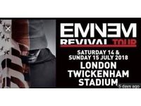 2 x Eminem Revival tour Twickenham Stadium 14th July 4pm