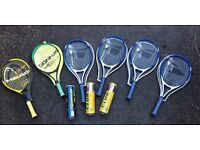 RACKETS AND BALLS
